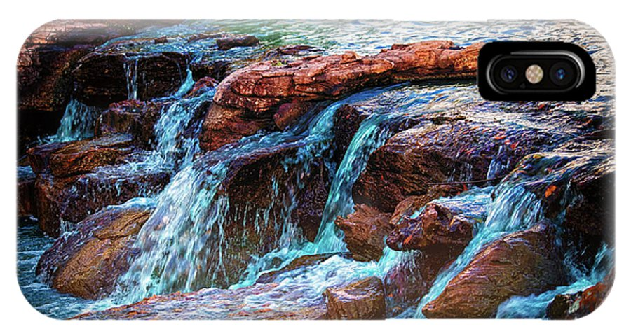 Waterfall IPhone X Case featuring the photograph On The Edge by JB Thomas