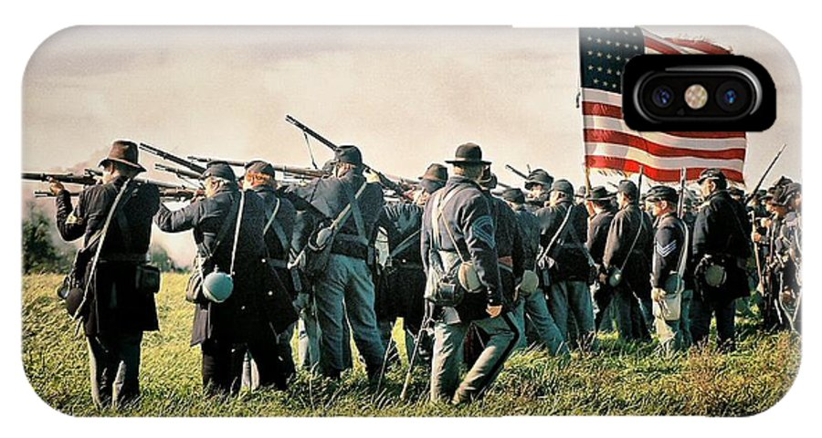 Civil War IPhone X Case featuring the photograph On The Field Of Battle by Lyle Hatch