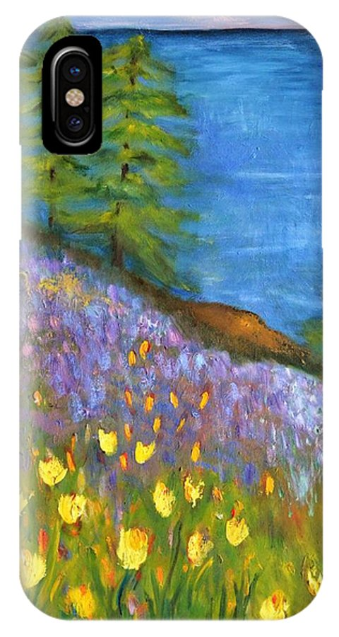 Impressionist Art IPhone X Case featuring the painting On The Hillside by Marla McPherson