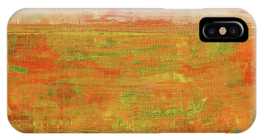 Danielle Tayabas IPhone X Case featuring the painting On The Horizon by Danielle Tayabas