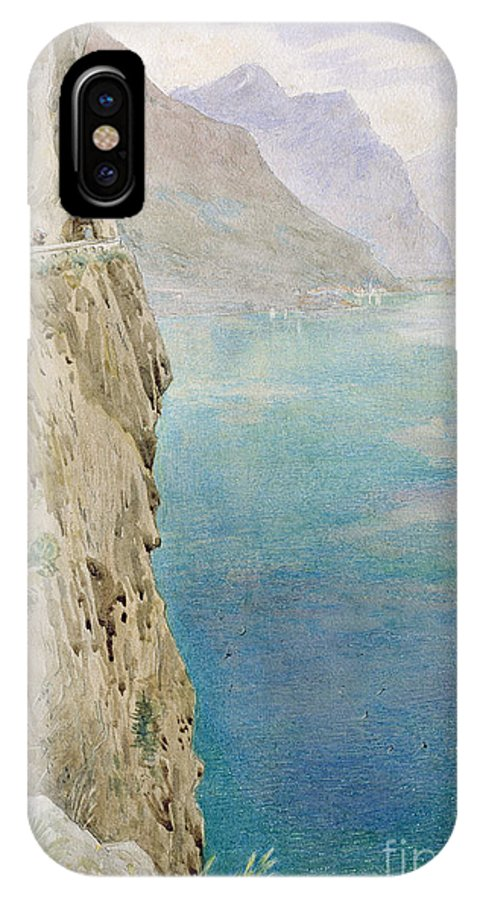 The IPhone X Case featuring the painting On The Italian Coast by Harry Goodwin