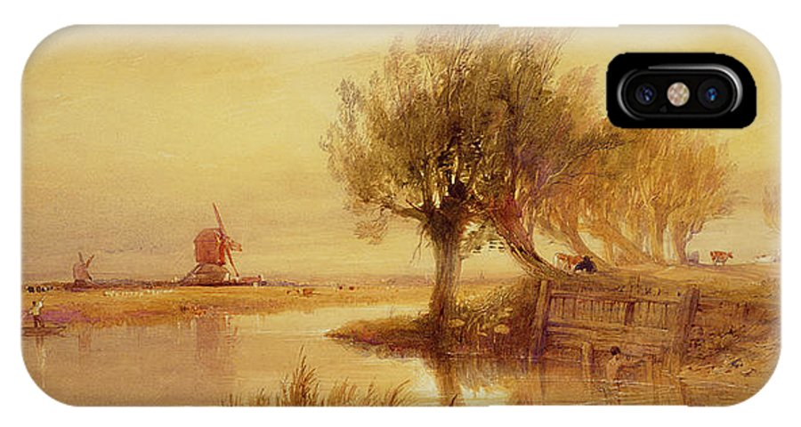 The IPhone X Case featuring the painting On The Norfolk Broads by Edward Duncan
