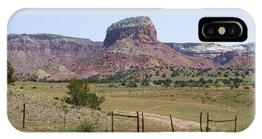 Landscape IPhone X Case featuring the photograph On The Ranch by Mary Rogers