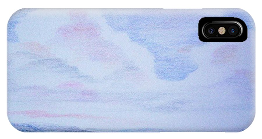 Landscape Painting IPhone X Case featuring the painting On The Way by Suzanne Udell Levinger