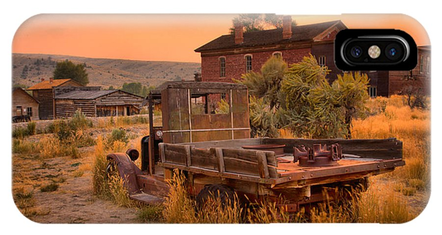 Bannack IPhone X Case featuring the photograph On The Way To Town by Adam Jewell