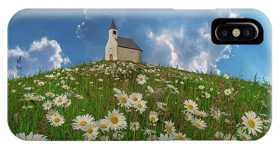 Hill IPhone X Case featuring the photograph On Top Of The Hill by Martin Podt