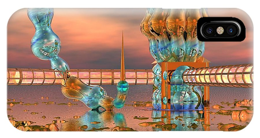 Landscape IPhone Case featuring the digital art On Vacation by Dave Martsolf