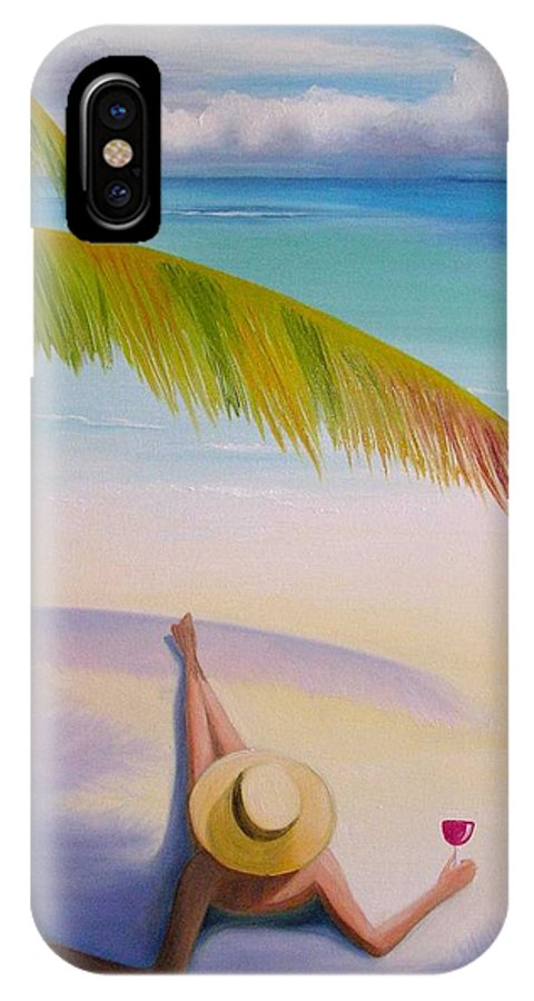 Beaches IPhone Case featuring the painting On Vacation by Maria Mills