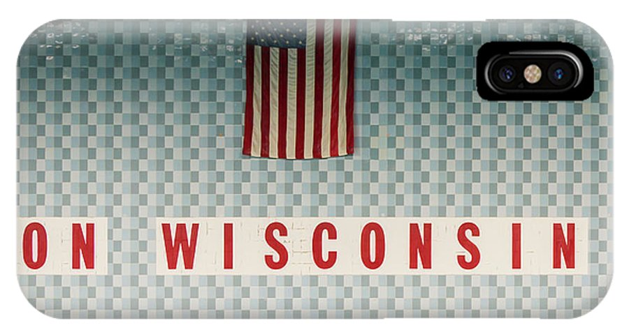 On Wisconsin IPhone X Case featuring the photograph On Wisconsin by Steven Ralser