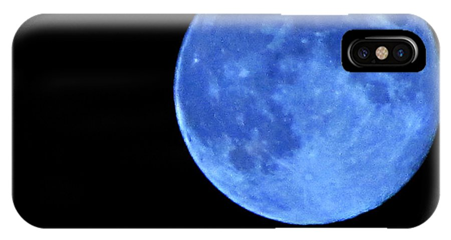 Blue Moon IPhone X Case featuring the photograph Once In A Blue Moon by Serena Ballard