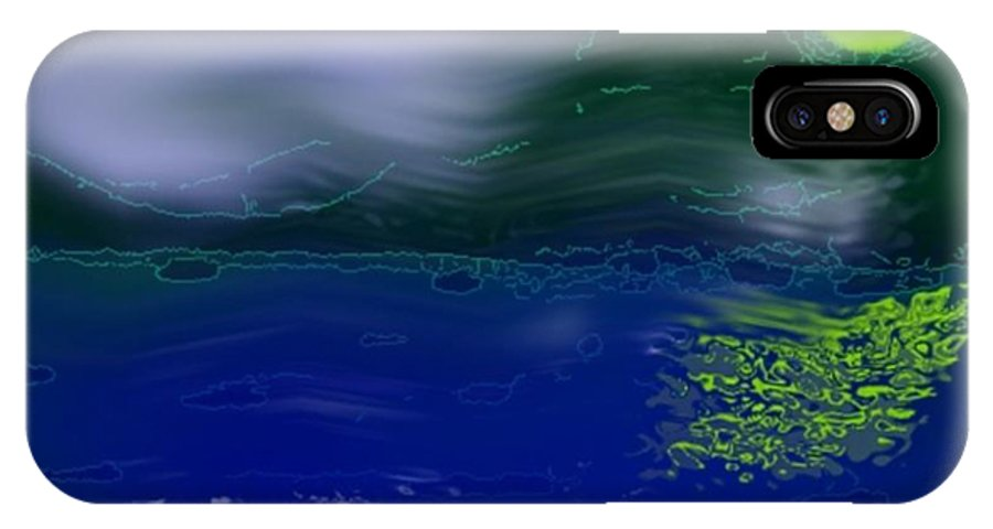 Night IPhone X Case featuring the digital art Once In Night by Dr Loifer Vladimir