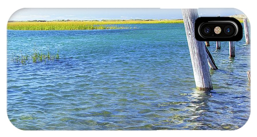 Water IPhone X Case featuring the photograph Once Upon A Pier by Kris Hiemstra