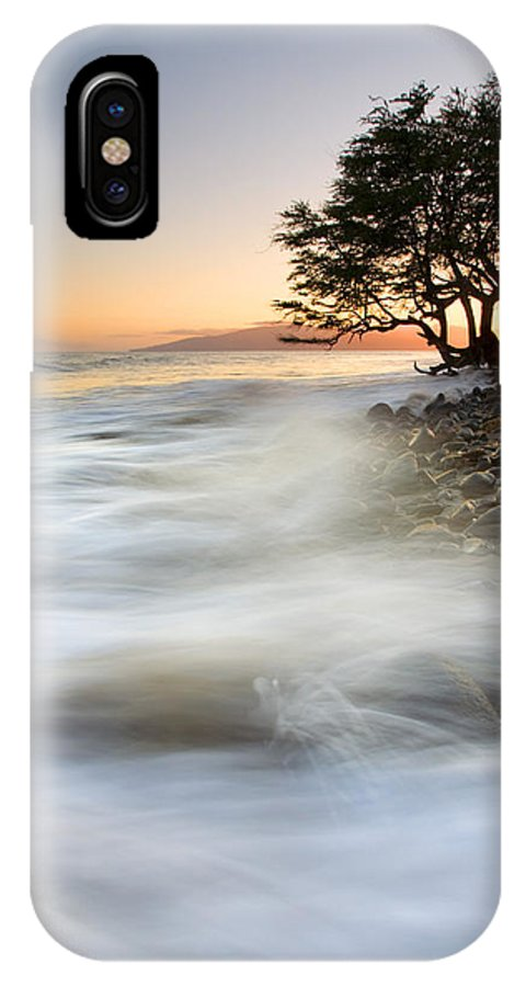 Sunset IPhone X Case featuring the photograph One Against The Tides by Mike Dawson