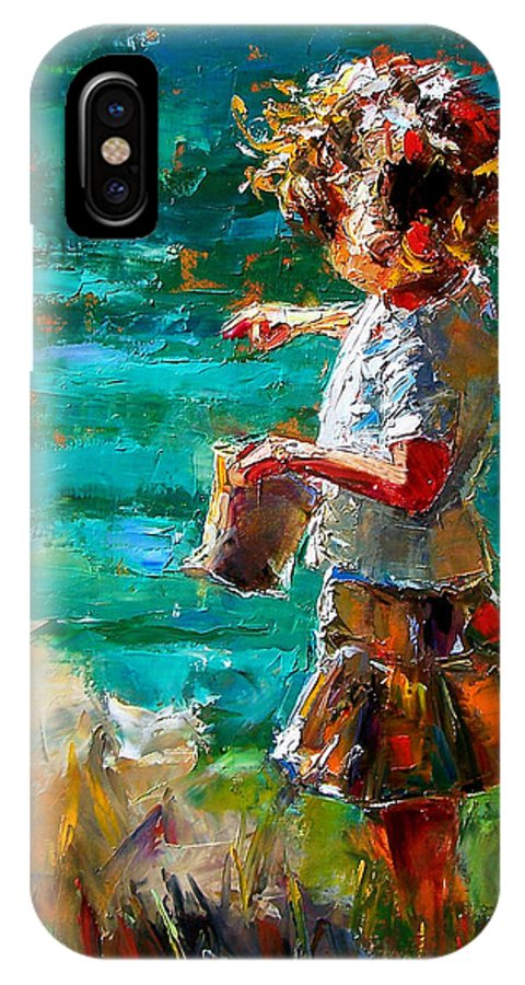 Children IPhone Case featuring the painting One At A Time by Debra Hurd