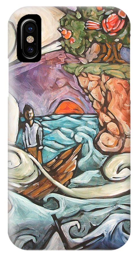 Sea IPhone Case featuring the painting One Big Tree by Chad Elliott