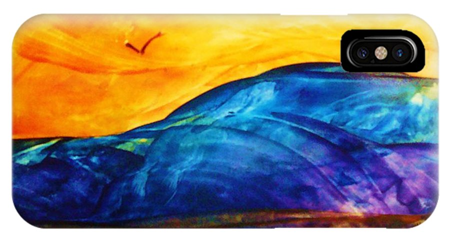 Landscape IPhone X Case featuring the painting One Fine Day by Melinda Etzold