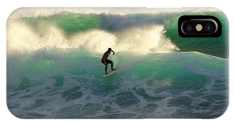 Maui IPhone X Case featuring the photograph One Last Wave Dumps Maui Hawaii by Pierre Leclerc Photography