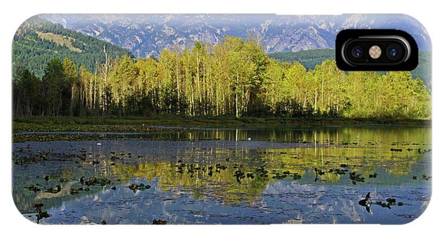 British Columbia IPhone X Case featuring the photograph One Mile Lake 1 by Walter Fahmy