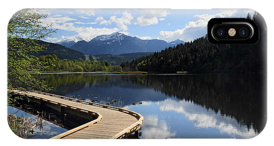 One Mile Lake IPhone X Case featuring the photograph One Mile Lake Walkway Pemberton by Pierre Leclerc Photography