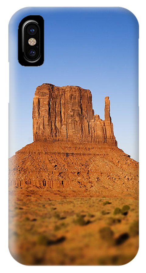 Monument Valley IPhone X Case featuring the photograph One Mitten by Wayne Stadler