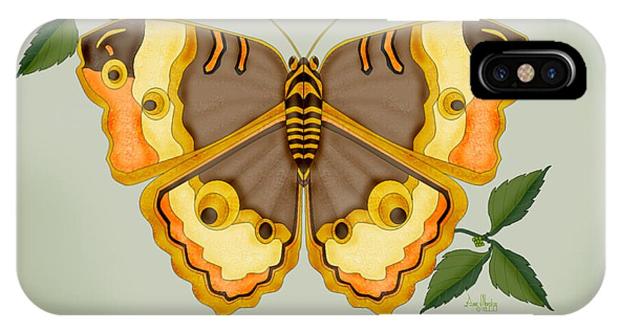 Butterfly IPhone Case featuring the painting One More Jewel For The Garden by Anne Norskog