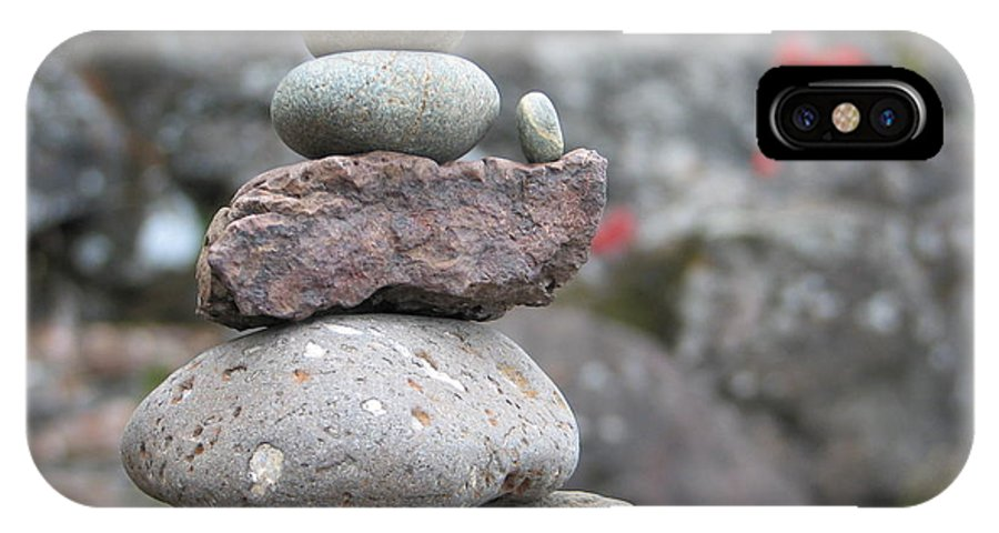 Rocks IPhone X Case featuring the photograph One More by Kelly Mezzapelle