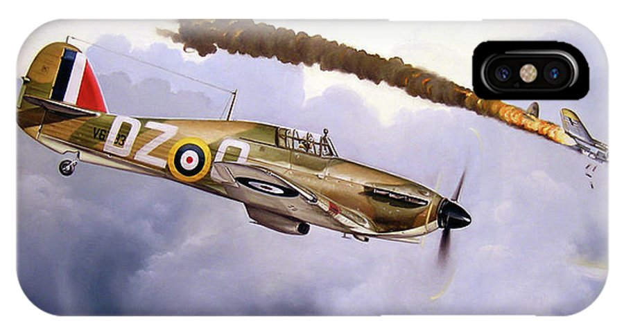 Aviation Art IPhone X Case featuring the painting One Of The Few by Marc Stewart