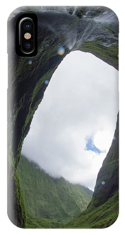 Hawaii IPhone X Case featuring the photograph One Of The Wettest Spots On Eart by Kawai Barrett