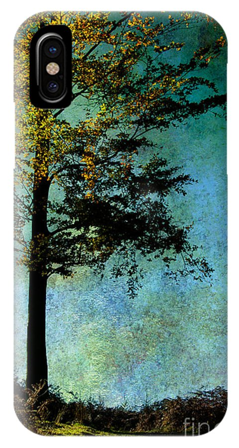 Tree IPhone X Case featuring the photograph One Tree by Ann Garrett