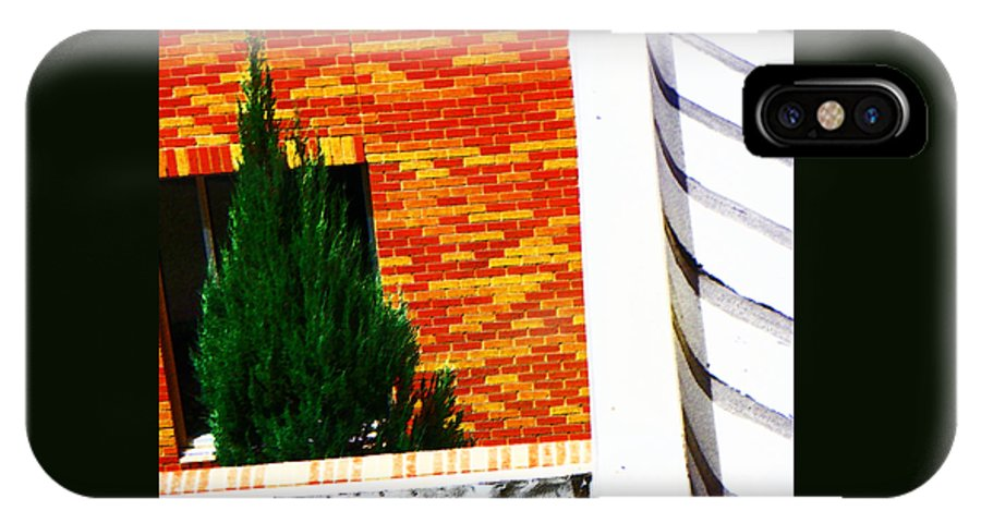 Abstract IPhone X Case featuring the photograph One Tree At The Hospital by Lenore Senior