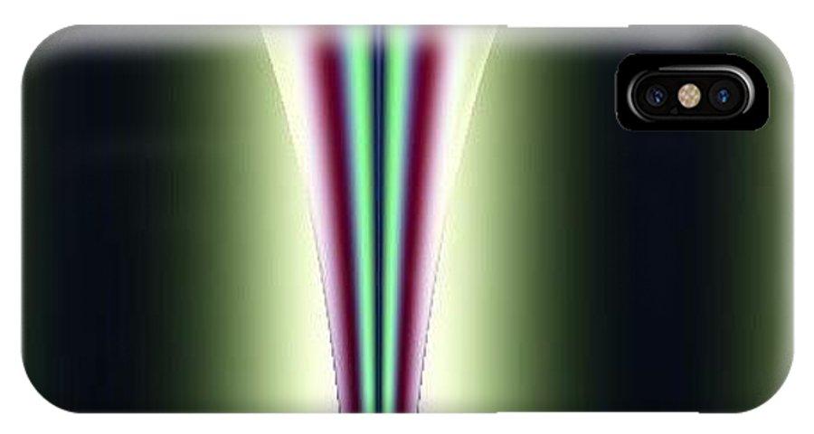 Digital Art IPhone X Case featuring the digital art One Way I by Dragica Micki Fortuna
