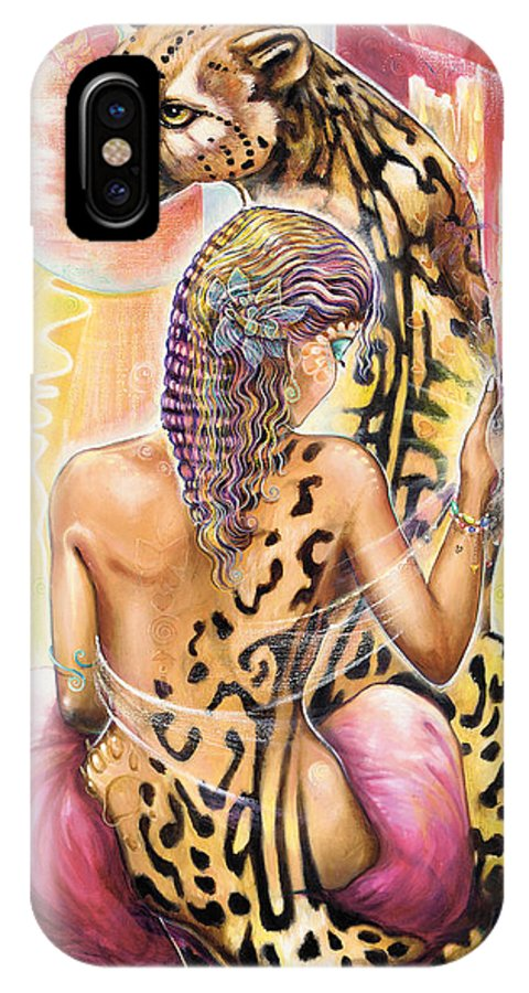 Animals IPhone Case featuring the painting Oneness by Blaze Warrender