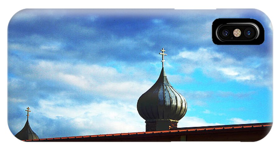 Spire IPhone X Case featuring the photograph Onion Domes by Jeff Barrett