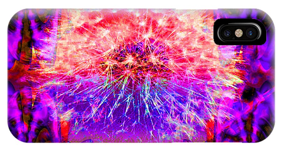 Flower IPhone X Case featuring the digital art Only A Dream by Robert Orinski