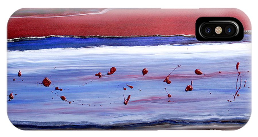 Abstract IPhone Case featuring the painting Only One by Paul Anderson