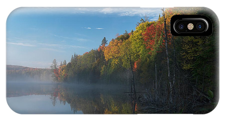 Lake IPhone X Case featuring the photograph Ontario Autumn Scenery by Oleksiy Maksymenko