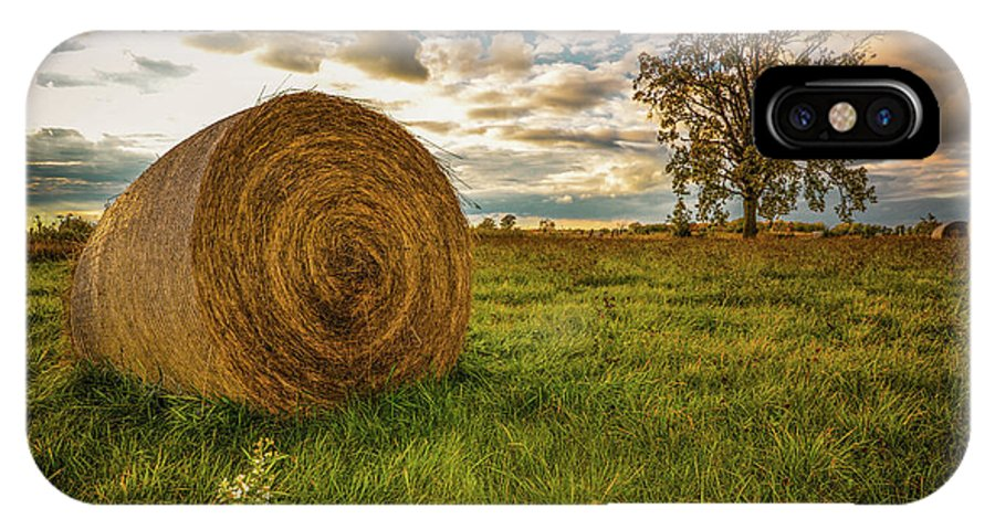 Landscape IPhone X Case featuring the photograph Ontario Hay by Karl Anderson