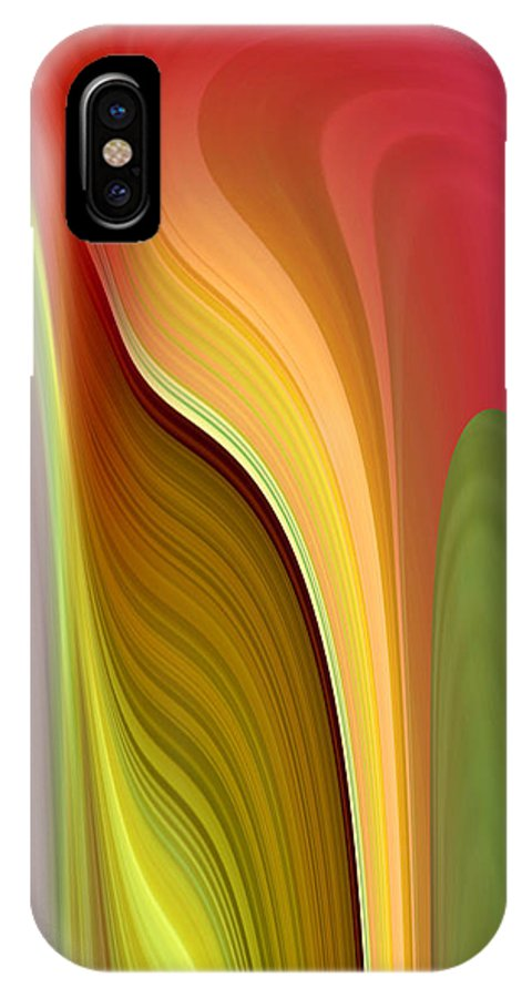 Abstract IPhone X Case featuring the digital art Oomph by Ruth Palmer