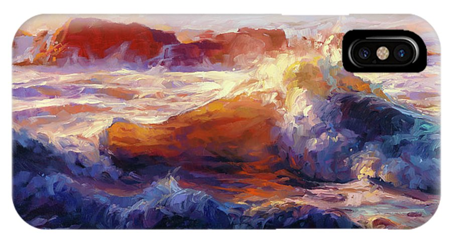 Ocean IPhone X Case featuring the painting Opalescent Sea by Steve Henderson
