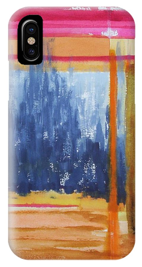Landscape IPhone X Case featuring the painting Opening by Suzanne Udell Levinger