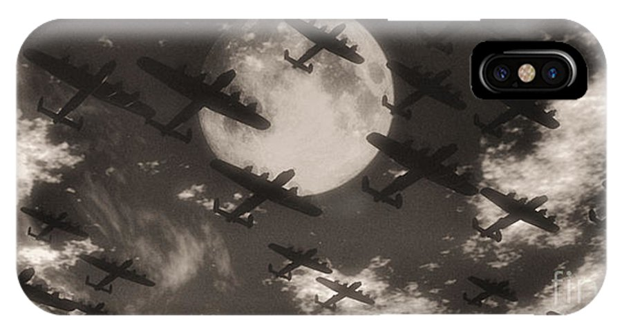 Aviaton IPhone X Case featuring the digital art Operation Moonlight by Richard Rizzo