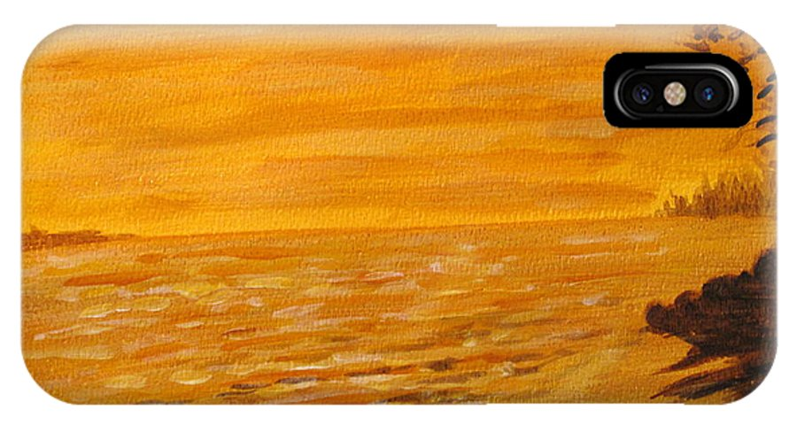 Ocean IPhone Case featuring the painting Orange Beach by Ian MacDonald
