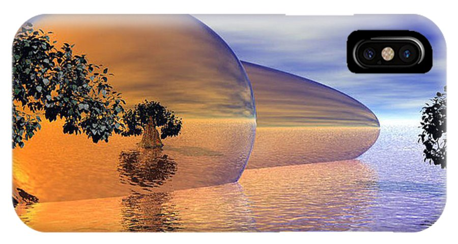 Digitalart IPhone Case featuring the digital art Orange Blossom Special by Wayne Bonney