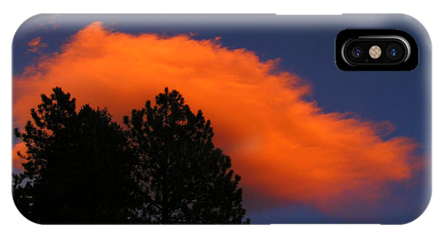 Cloud Forest Colorado Sky Sunset Nature Zen Simple Rocky Mountains IPhone X Case featuring the photograph Orange Cloud by George Tuffy