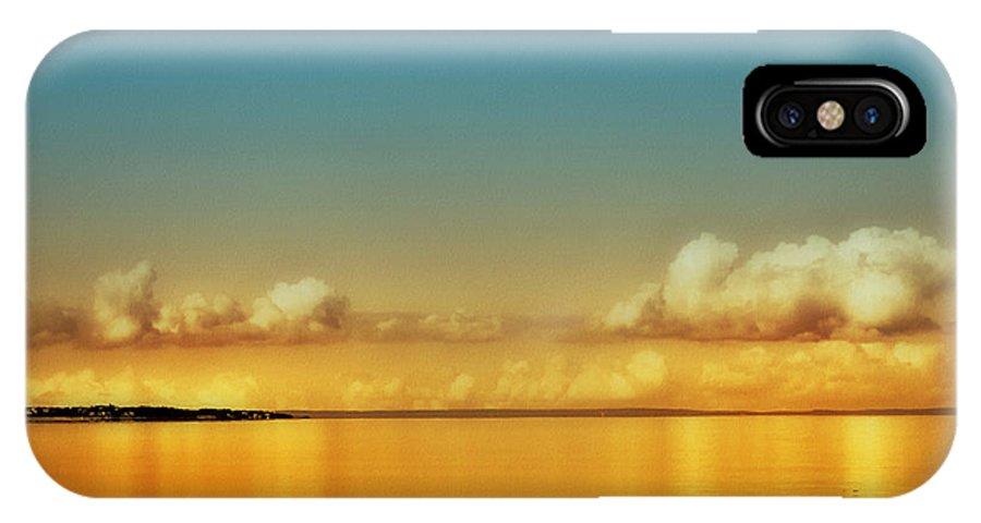 Orange Clouds IPhone X Case featuring the photograph Orange Clouds by Dapixara Art