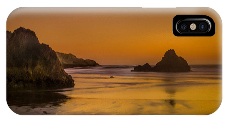Whaleshead Beach IPhone X / XS Case featuring the photograph Orange Crush by Michele James