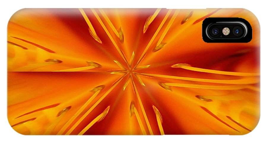 Fractal IPhone Case featuring the photograph Orange Marmalade by David Dunham