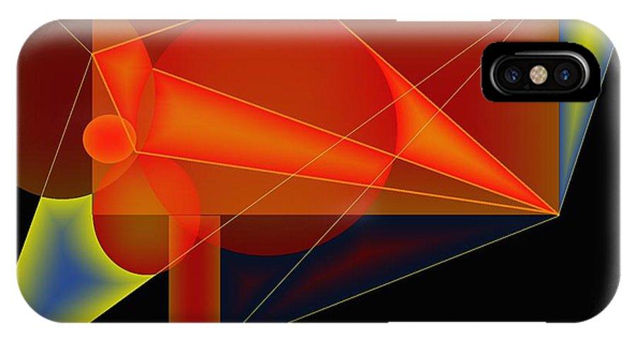 Orange IPhone X Case featuring the digital art Orange Mechanics by Helmut Rottler