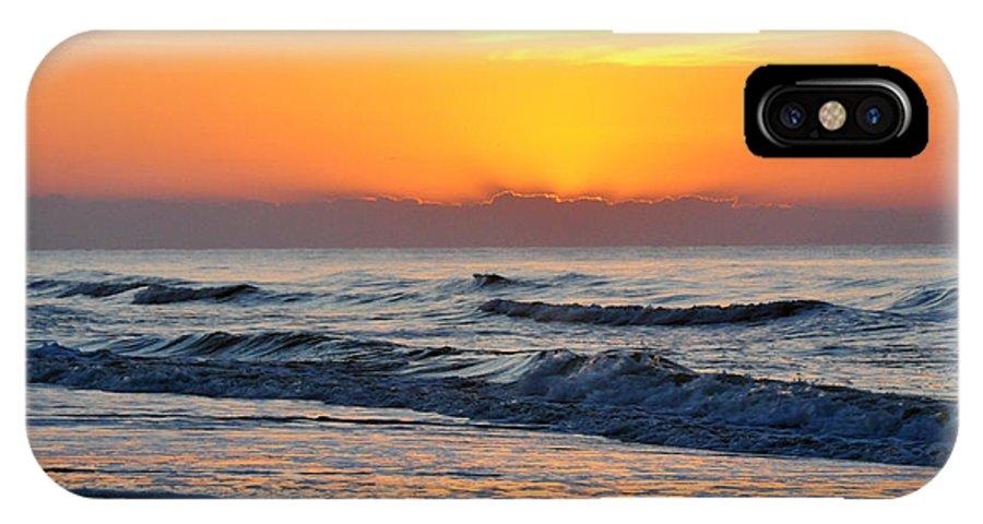 Water IPhone X Case featuring the photograph Orange Morn by Kay Lovingood