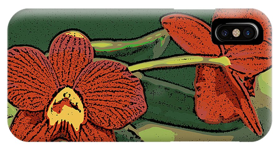 Orchid IPhone Case featuring the photograph Orange Orchids by Ann Tracy